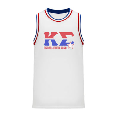 New! Kappa Sig Retro Block Basketball Jersey