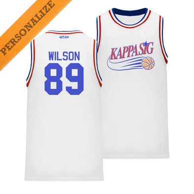 New! Kappa Sig Personalized Retro Swish Basketball Jersey