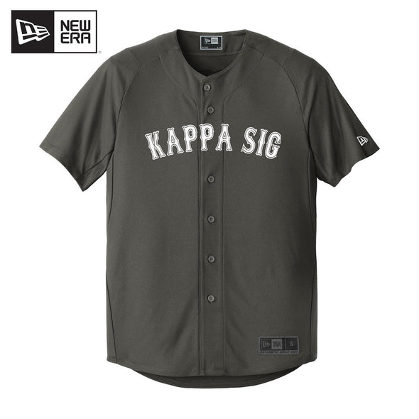 Kappa Sig New Era Graphite Baseball Jersey