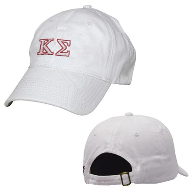 Kappa Sig White Greek Letter Adjustable Hat by The Game