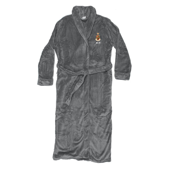 Kappa Sig Personalized Charcoal Ultra Soft Robe