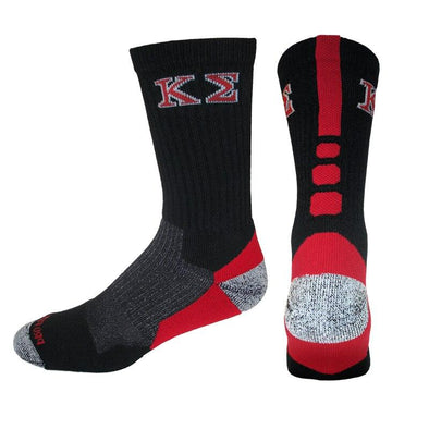 Kappa Sigma Black & Red Performance Shooter Socks