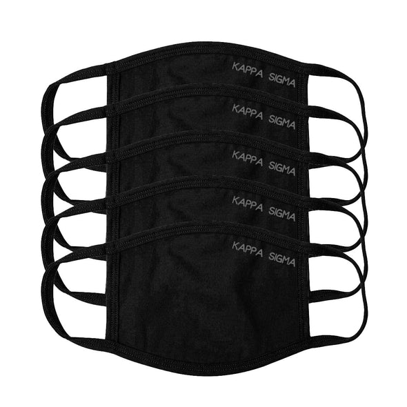 Sale!  Kappa Sig Black Adjustable Face Mask