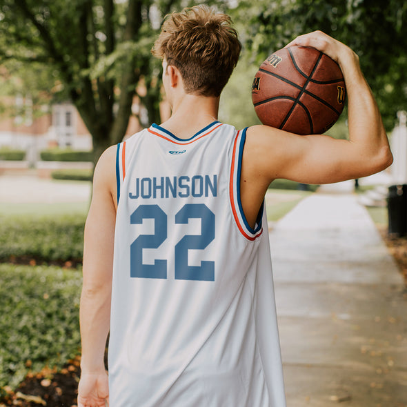 Kappa Sig Personalized Retro Block Basketball Jersey