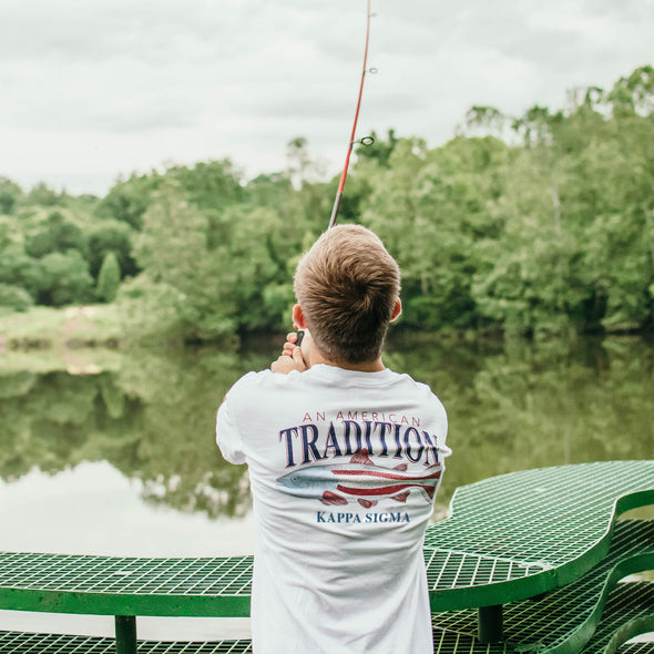 Kappa Sig American Trout Comfort Colors Tee