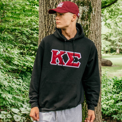 Sale!  Kappa Sig Black Hoodie with Sewn On Letters