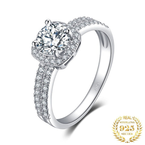 1ct CZ Halo Engagement Ring