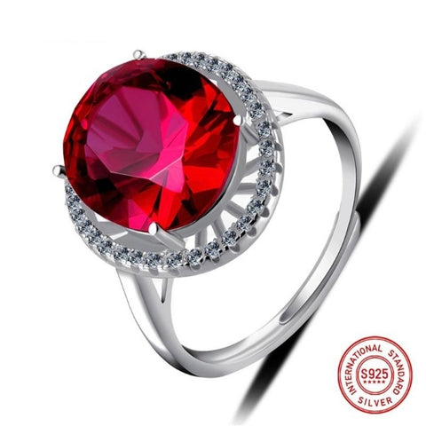 Ruby Sterling Silver Attractive Ring