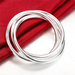 Three Smooth finished Solid Bold Bangle
