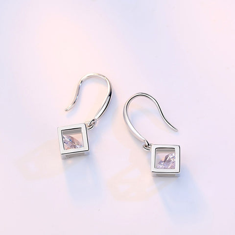 Hollow Square Super Flash Earrings