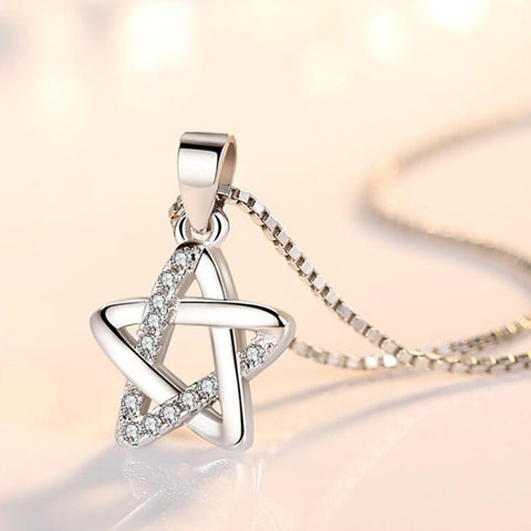 Retro Simple Star Pendant Necklace