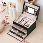 3-Layred Large Capacity Jewelry Box