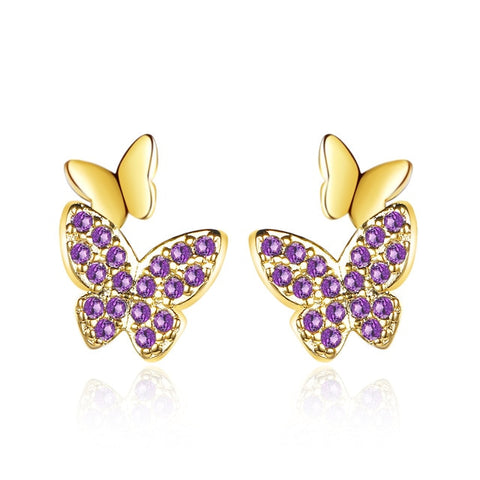Colorful Butterfly Gold/Silver Earrings