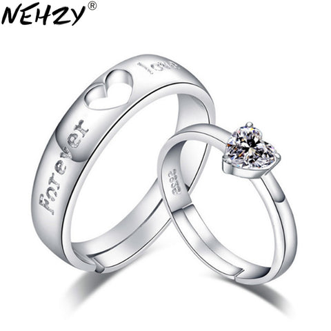 Couple Hear-Shaped Hollow Couple Rings