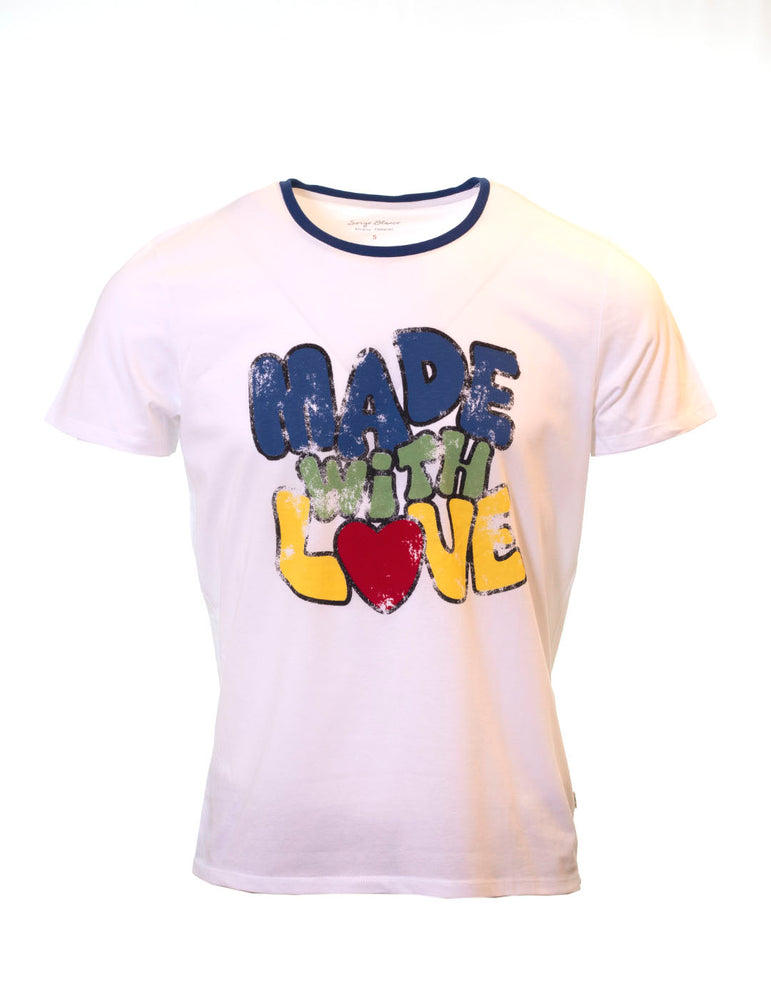 CAMISETA SERGE BLANCO MADE WITH LOVE