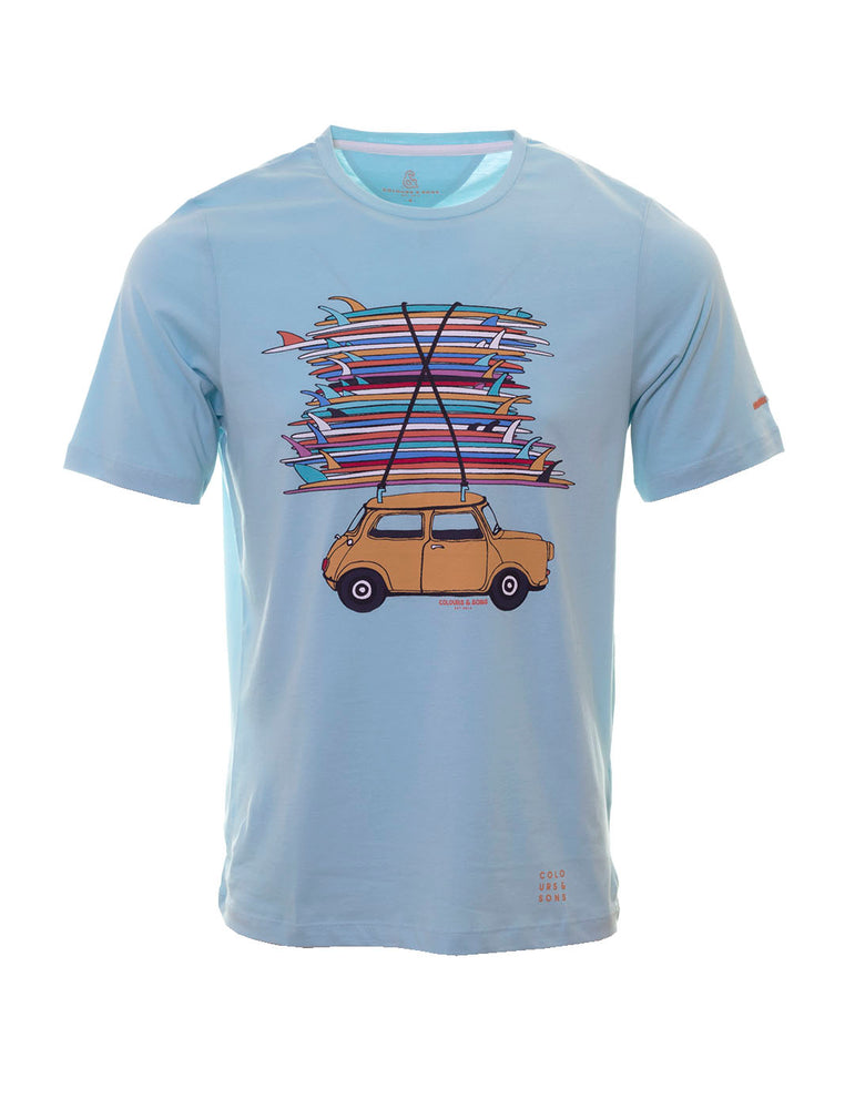 CAMISETA COLORS AND SONS TABLAS SURF