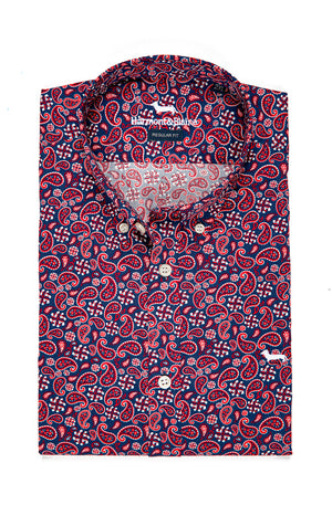 CAMISA HARMONT AND BLAINE ESTAMPADO ROJO