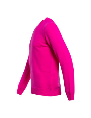 JERSEY WOOL AND CO CUELLO CAJA FUCSIA.