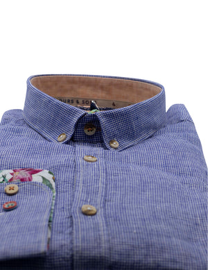 CAMISA LINO COLOURS AND SONS PATA DE GALLO 6738