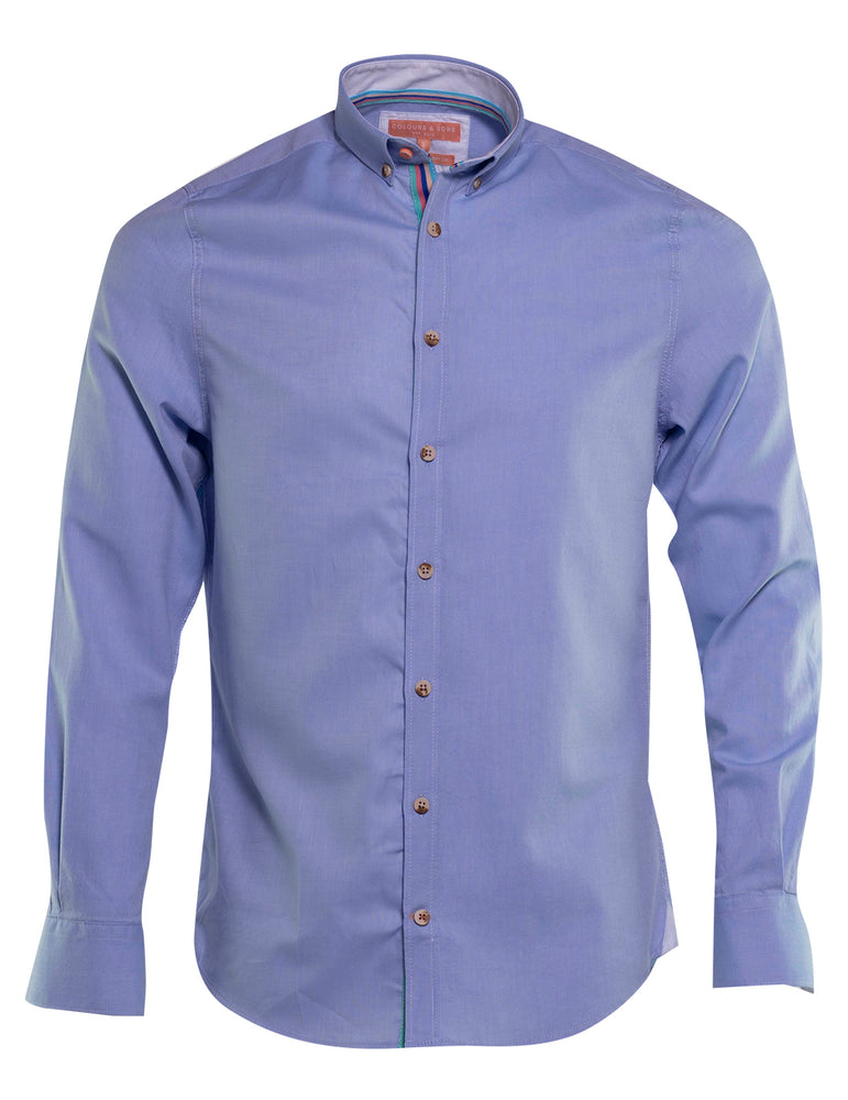 CAMISA OXFORD COLOURS AND SONS CELESTE 6737