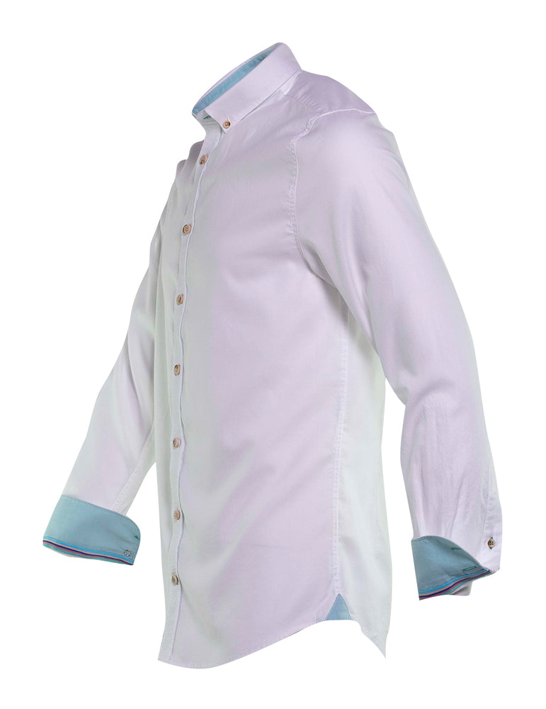 CAMISA OXFORD COLOURS AND SONS BLANCA. 6736