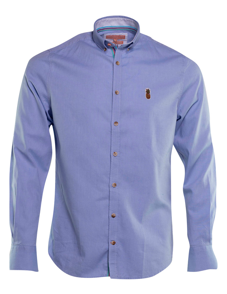CAMISA OXFORD COLOURS AND SONS LOGO PIÑA 6735