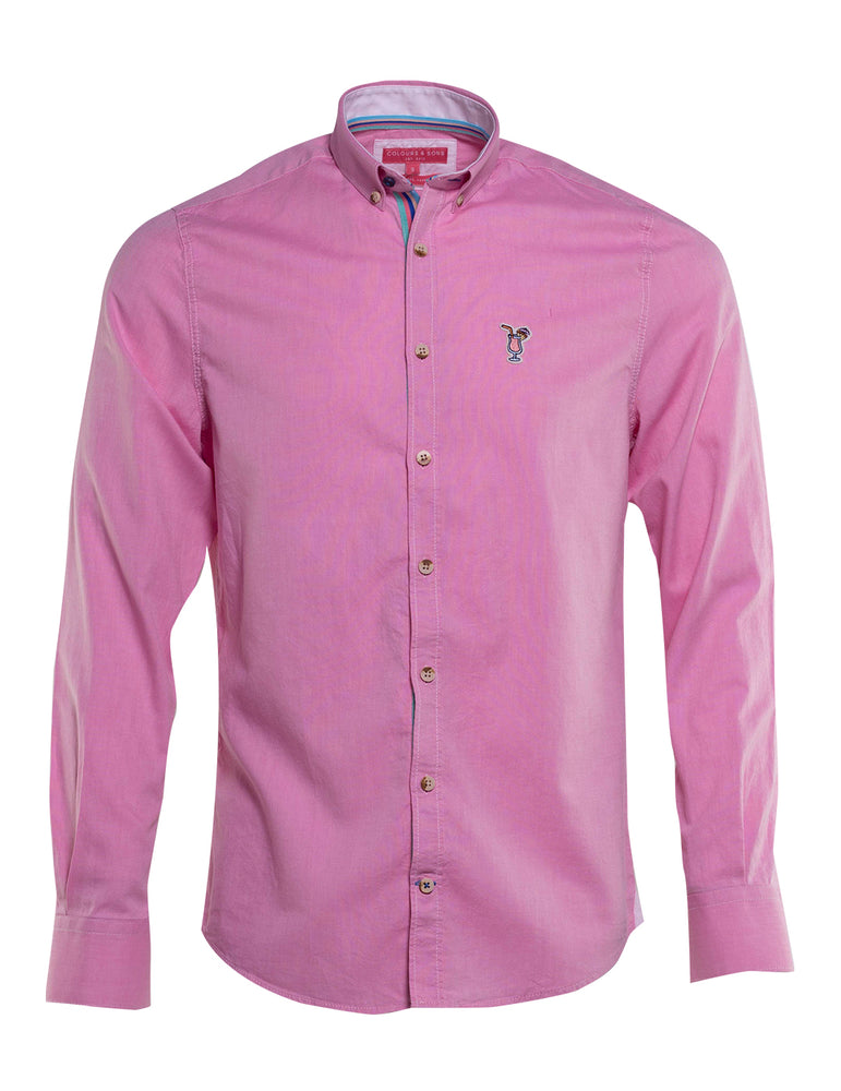 CAMISA OXFORD COLOURS AND SONS LOGO COCKTEL 6733