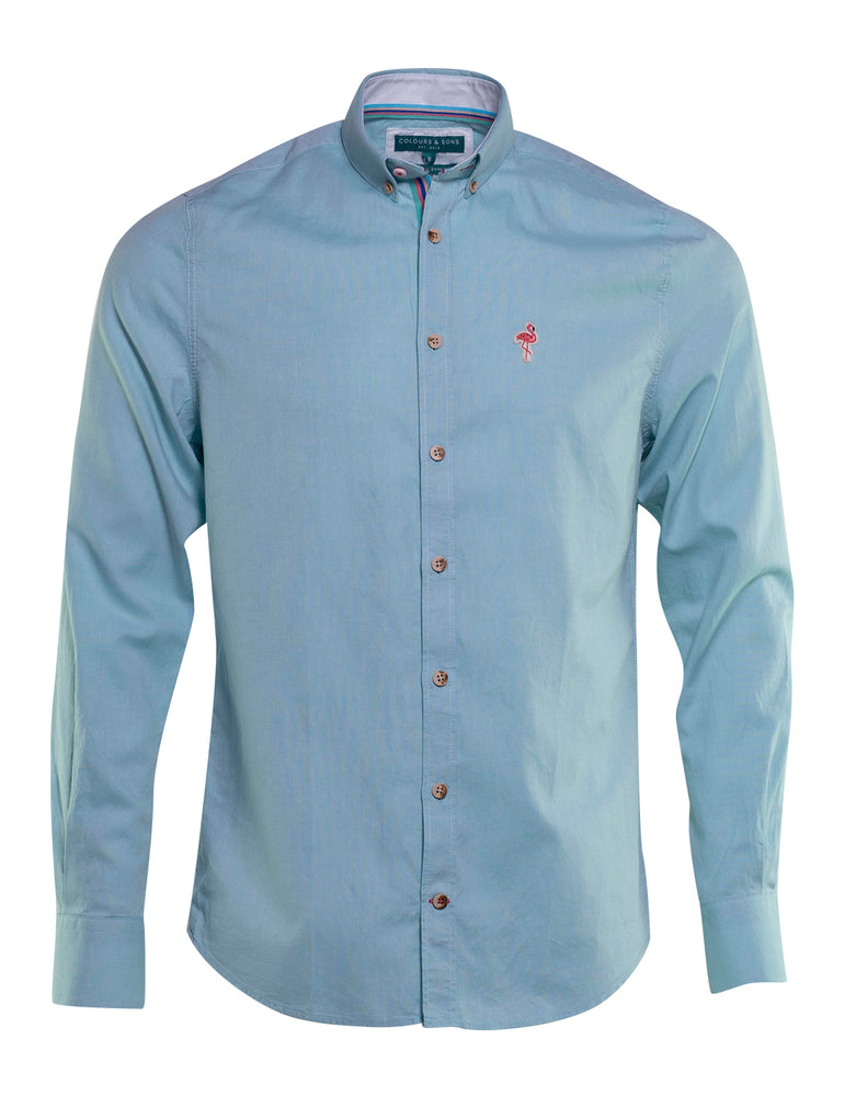 CAMISA OXFORD COLOURS AND SONS LOGO FLAMENCO 6734