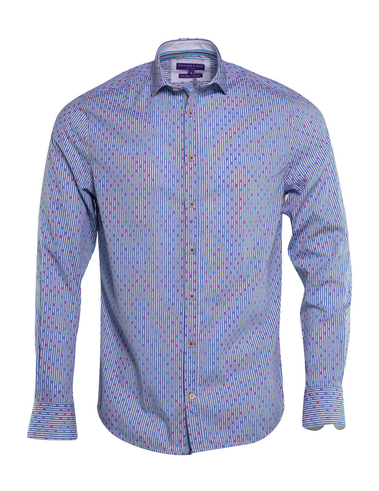 CAMISA COLOURS AND SONS RAYA PIÑAS FLUOR 6742