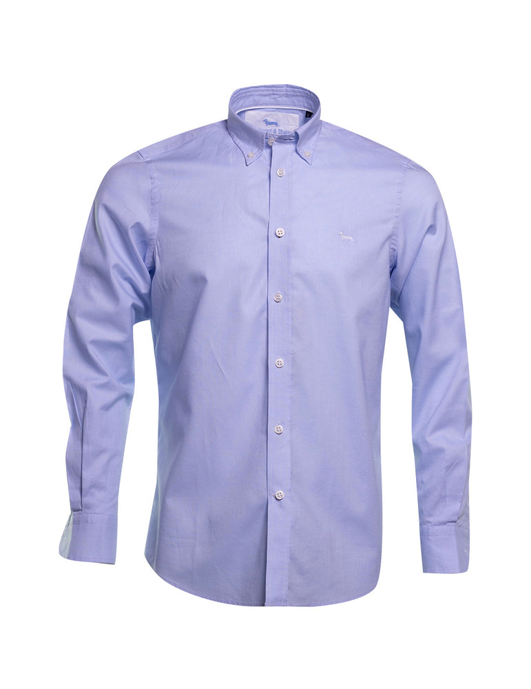 CAMISA HARMONT AND BLAINE POPELIN AZUL 6469