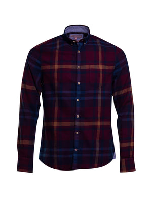 CAMISA COLOURS ANS SONS WINTER CHECK BURDEOS