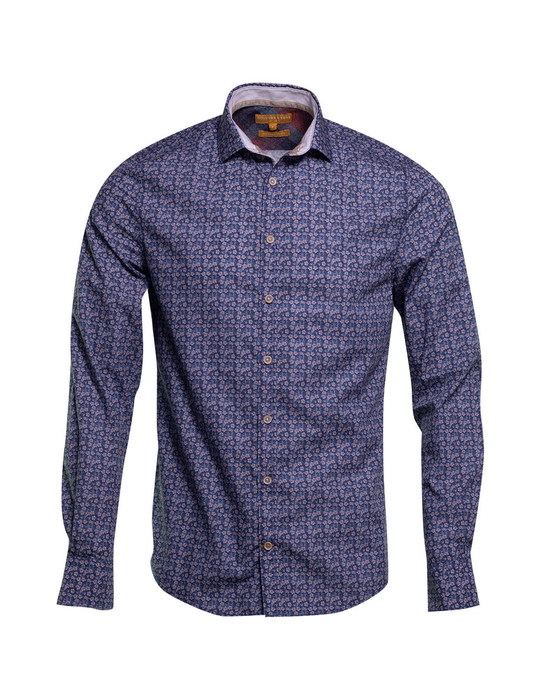 CAMISA  COLOURS AND SONS FLOR AZUL