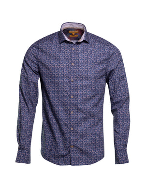 CAMISA  COLOURS AND SONS FLOR AZUL 6260