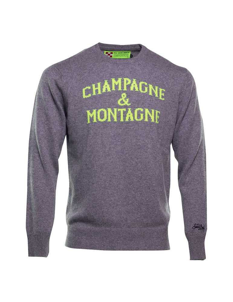 JERSEY MC2 CHAMPAGNE & MONTAGNE GRIS OSCURO.