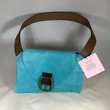 0079 Neccessey - Leather aqua with buckle