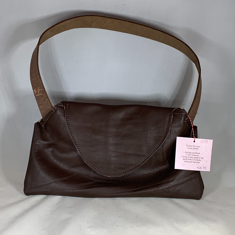 0075 Big Sis - Leather cocoa Neccessey Collection