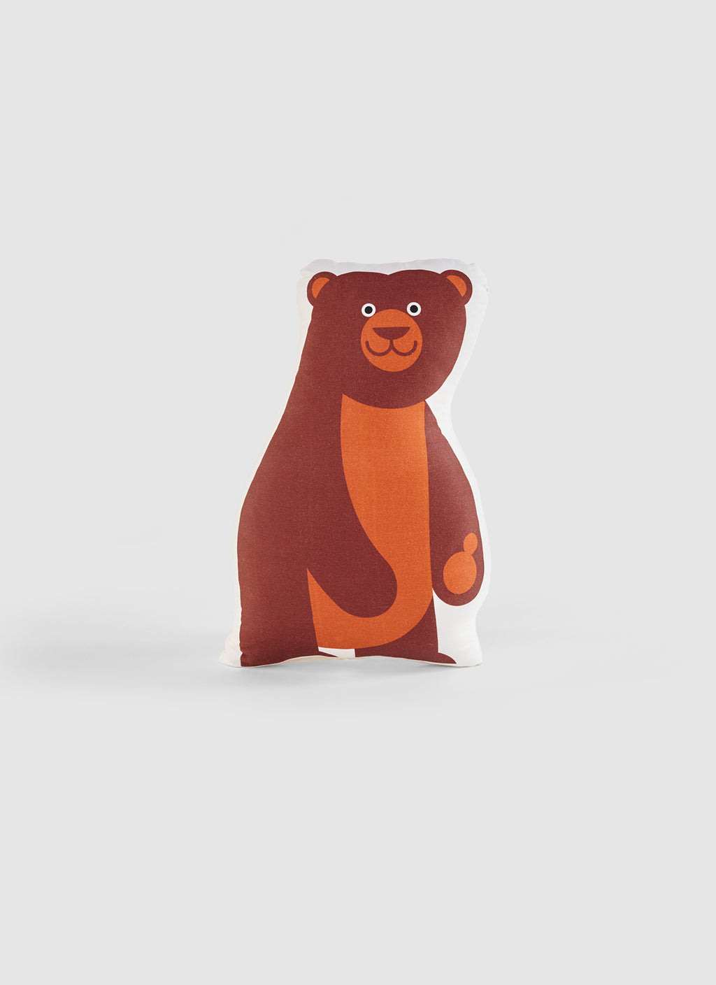 brown bear organic cotton cushion for the kids room