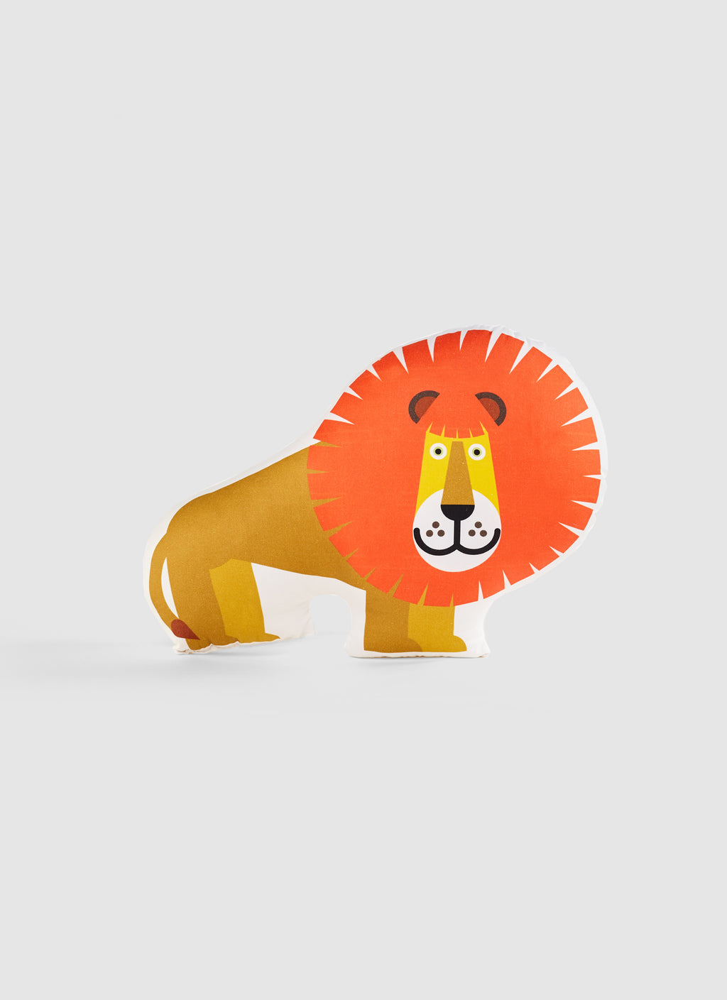 lion organic cotton cushion for kids