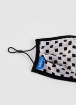 checker design sustainable kids face mask made in Barcelona