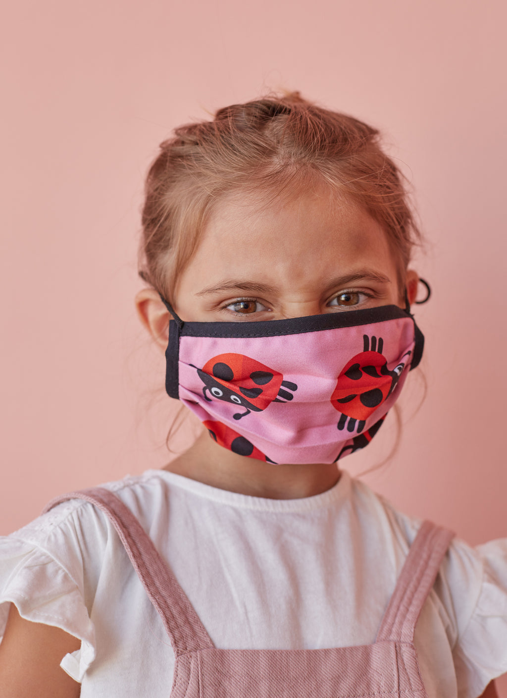 Reversible Checker-Ladybugs Face Mask