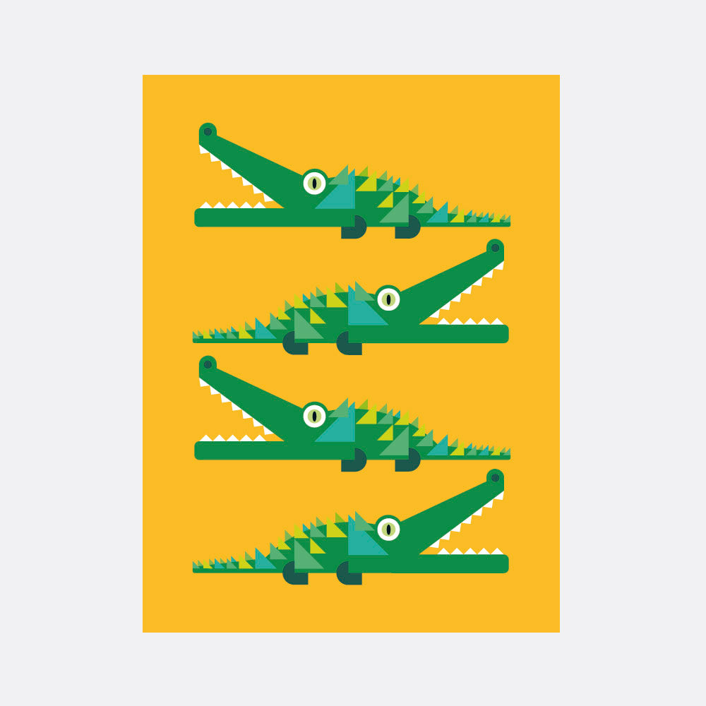 crocodiles print for the kids room
