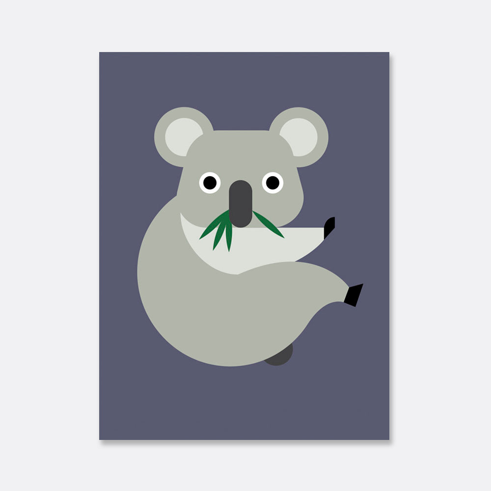 koala illustration print for the kids room