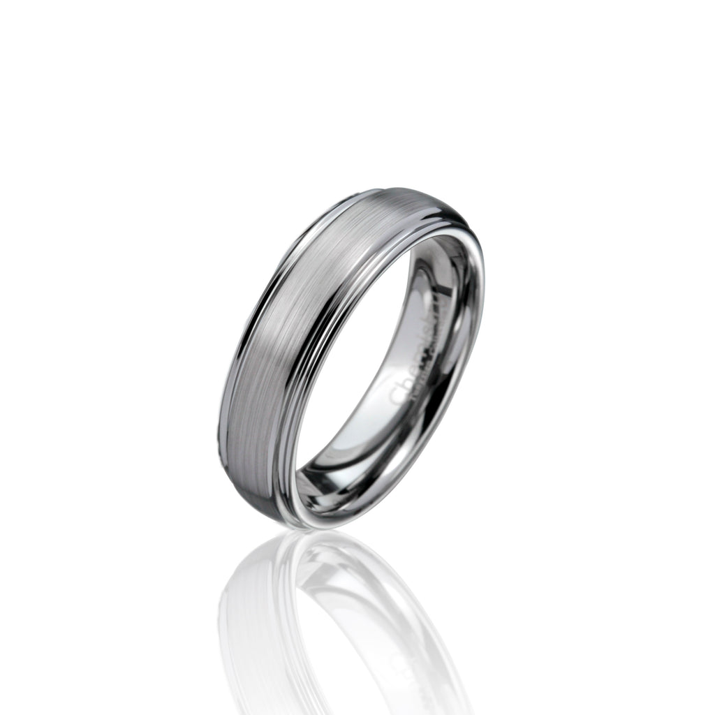 Classic Brushed Tungsten Ring