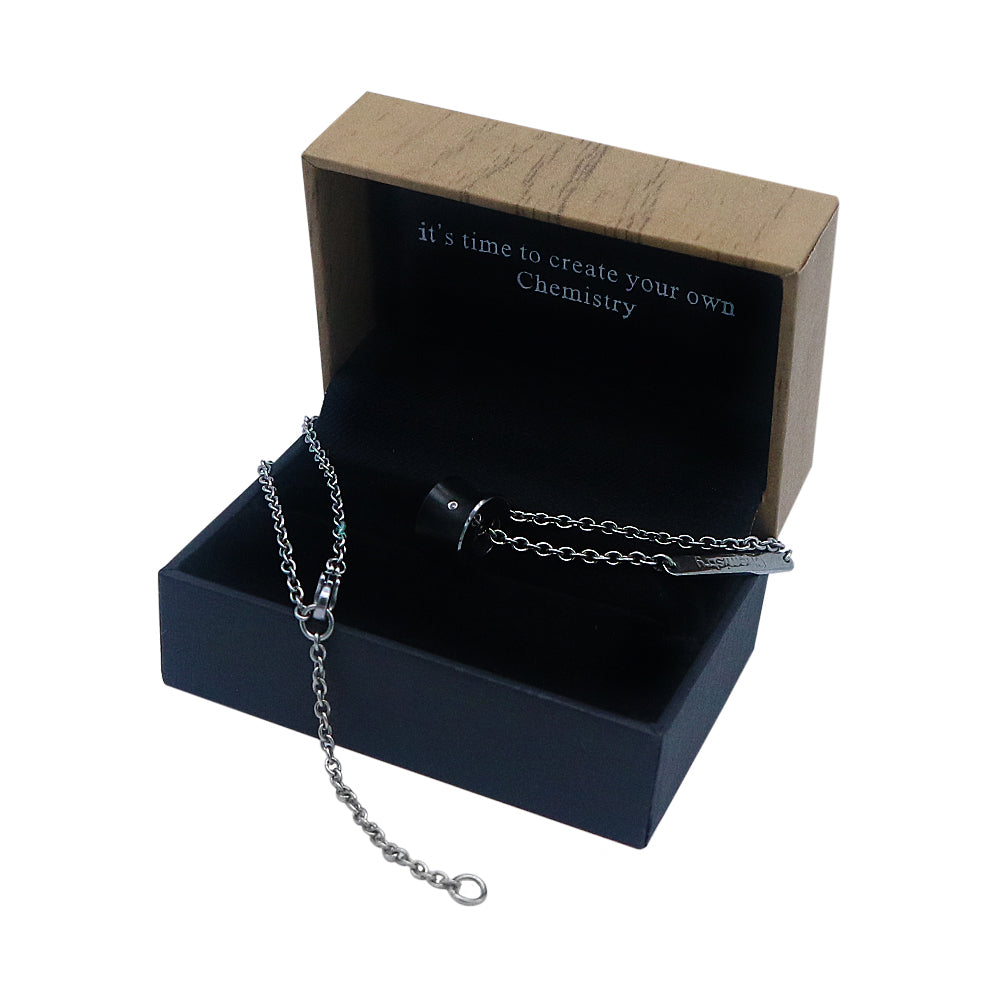 Stunning Slide Tungsten Necklace with Diamond Accent in Box Packaging