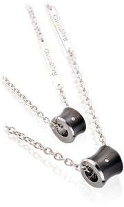 Stunning Slide Tungsten Necklace with Diamond Accent