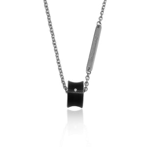 Stunning Slide Tungsten Necklace with Diamond Accent Pendant