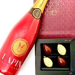 Lapin Rouille Best Champagne and Cartografie Chocolates