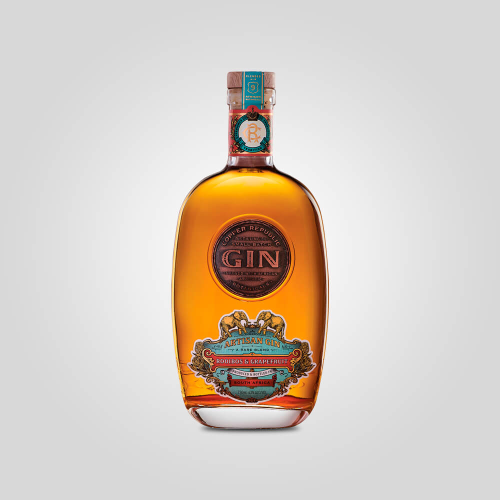 Copper Republic Rooibos & Grapefruit Gin | 750ml (43%) | South African Gin - Rusty Rabbit Spirits Lounge - buy alcohol online