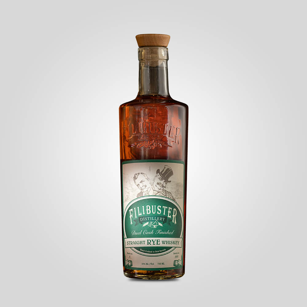 Filibuster Straight Rye Whiskey | 750ml (45%)