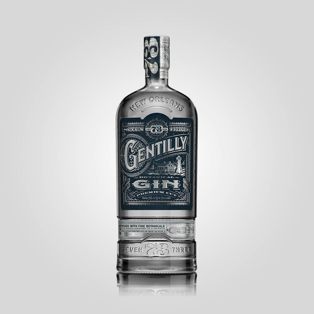 Seven Three Distilling Gentilly Gin from their New Orleans Distillery
